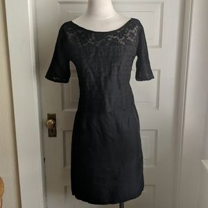 Vintage Little Black Dress with Lace Sleeves